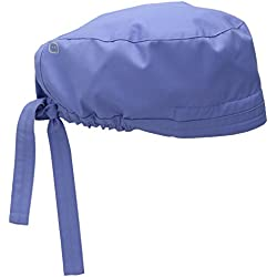 WonderWink Men's Wonderwork Unisex Scrub Cap, Ceil Blue, One Size