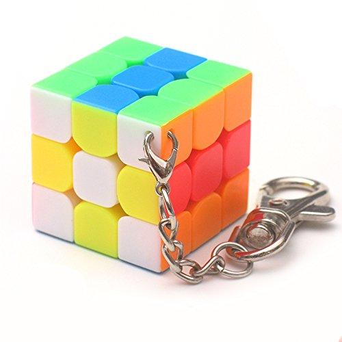 Lanlan Creative Key Ring Decoration Multicolor & 3cm Mini Small 3x3 Magic Cube Key Chain Smart Cube Toy