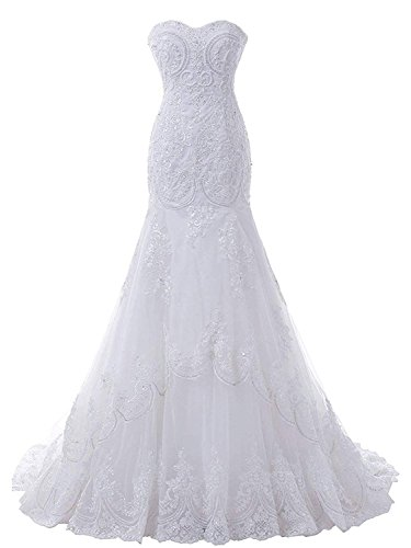 Women V Neck Spaghetti Wedding Dress Beaded Beach Bridal Gown Prom Dress Size 8