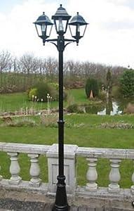 UK-Gardens 7ft Victorian Garden Lamp Post – Triple Head