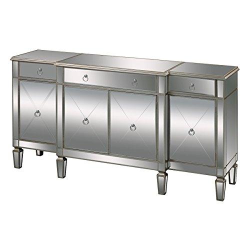 Mirrored Buffet Server (Sterling 6043618 Bodrum Contemporary Medium Density Fiberboard Buffet Server, 38-Inch, Mirrored Glass)