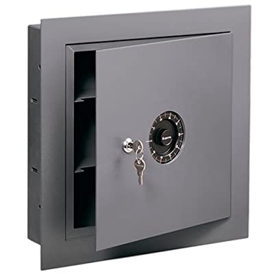 SentrySafe 7150 Dual Protection Wall Safe, 670 Cubic Inches, Gray