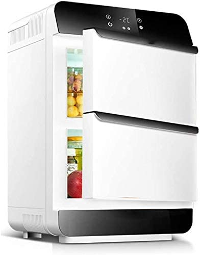 25Lカー冷蔵庫、ミニ冷蔵庫カーデジタルディスプレイダブルドア小型冷蔵庫、横型両用、カーホームデュアルユースミニ冷蔵庫、ドライブトラベルアウトドア