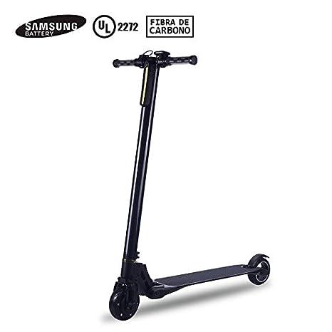 Patinete eléctrico fibra de carbono Marvin S200 - Negro - Patín scooter plegable con batería Samsung