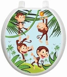 Monkey Business TT-1056-R Round Whimsical Kids Cover Bathroom