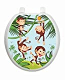 Monkey Business TT-1056-R Round Whimsical Kids Cover Bathroom