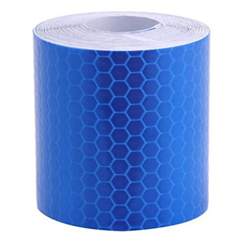 VEIREN Reflective Warning Tape Film Sticker Car Motorcycle Trailer Truck Conspicuity Reflectors Tape High Intensity Grade(Blue) - Blue Mailbox Reflector
