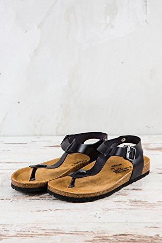 Eu Piel Lisa Negro Plakton 37 Sandalias Para Mujer Pl1 134 De RURBqgvI