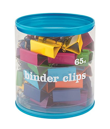 Office Depot(R) Brand Fashion Binder Clips, Assorted Sizes, Assorted Colors, Pack Of 65