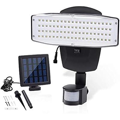 VIBELITE Solar Motion Sensor Light 80-LED 1000 Lumens Solar Motion Sensor Light