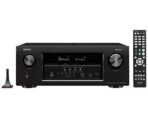 Denon AVRS930H 1295W 7.2-Ch. Hi-Res With HEOS 4K Ultra HD A/V Home Theater Receiver Black