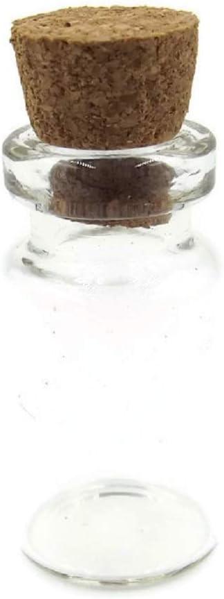 /Botellas de cristal con Corchos forma de cilindro Mini/ 10/pieza 2,8/cmx1,4/cm