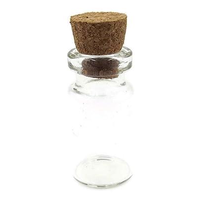 10 pieza, Mini – Botellas de cristal con Corchos, forma de cilindro, 2