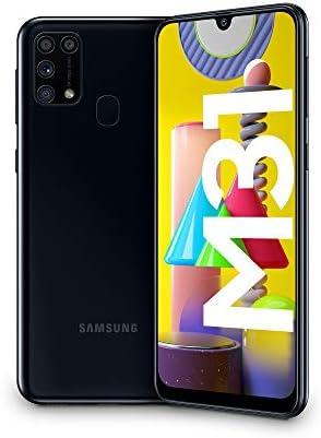 Samsung Galaxy M31, Smartphone, Display 6.4″ Super AMOLED, 4 Fotocamere Posteriori, 64GB Espandibili, RAM 6GB, Batteria 6000 mAh, 4G, Dual Sim, Android 10, [Versione Italiana], Nero, Esclusiva Amazon