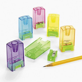 Pencil & Crayon Sharpeners (24 Pack - Multi-Colored)