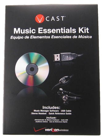 Vcast ( V-Cast ) Verizon Essentials Kit (Set ) Bundle : USB Data Cable + Software CD and 2.5mm Jack Stereo Hands-free Headset for LG vx8550 Chocolate-2 ( vx-8550 by Verizon Wireless)
