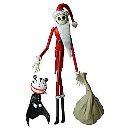 Jack Skellington Christmas.Nightmare Before Christmas Santa Jack Skellington Figure