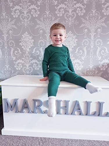DreamBuy 6M-7A b/éb/é Enfants Bambin Unisexe Filles et gar/çons Doux Coton Confortable c/ôtel/é Pyjama//v/êtements de d/étente /élastique v/êtements de Nuit 2pcs Set