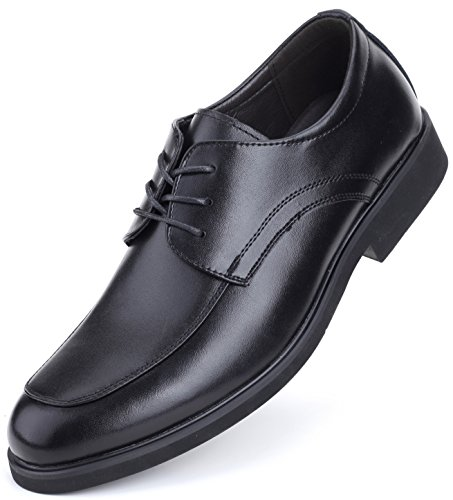 Marino Oxford Dress Shoes for Men - Formal Leather Mens Shoes - Black - Lace Up - 11 D(M) US