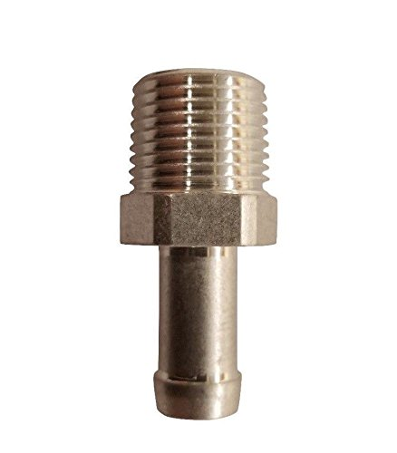 3/8 Male NPT To 1/4 Hose Barb Aluminum Adapter Fitting ()