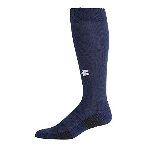 Under Armour Team Over The Calf Socks, 1-Pair, Midnight Navy/White, Shoe Size: 8-12