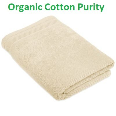 Organic Cotton Bath Towel (Organic Premium Cotton Bath Towel; Durable, Soft, Extra Absorbent, Premium Quality GOTS Certified Organic Cotton; Enhanced Luxury For Every Bath Décor)