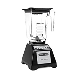 "Blendtec Home The Professional's Choice Total Blender 32 Powerful 1560 watts, 3 peak h/p motor 6 pre-programmed cycles tell the motor when to speed up, slow down and shut off automatically. Compact 15"" height easily fits under kitchen cabinets. 13 amps, 120 volts. Illuminated LCD timer display"