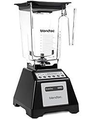 """""""Blendtec Total Classic Original Blender with Wildside+ Jar (96 oz), Commercial-Grade Power, 6 Pre-programmed Cycles, 3-speeds, Black (Certified Refurbished)"""""""
