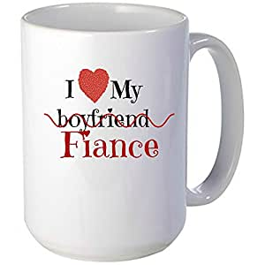 I Love My Fiance Mug Unique Gift Idea For