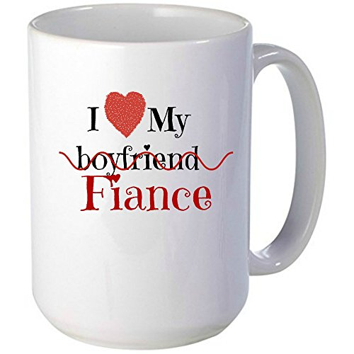 I Love My Fiance Mug, Unique Gift Idea for Women, Her - Great For The Office, Birthdays, Gag Gift, Holidays, Coworkers, Mom, Daughter, & Friends With a Sense of Humor, Great to announce the ENGAGEMENT