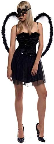 Partilandia Disfraz Cisne Negro para Mujer (M): Amazon.es ...