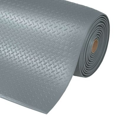 Arbeitsplatzmatte, PVC - Breite 910 mm, pro lfd. m grau - Arbeitsplatzmatte Arbeitsplatzmatten Bodenbelag Bodenschutzmatte