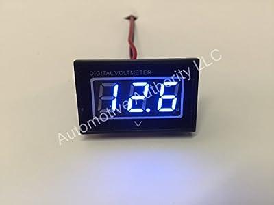 Automotive Authority LLC® 12V 12 Volt Digital Marine Trolling Motor Battery Indicator Charge Status Power Meter - BLUE