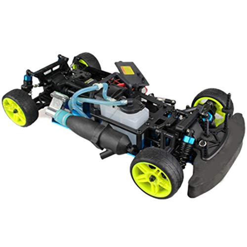 GODNECE 1:10 Sports Car Fuel Drift Car Chassis Frame Kit with GT2B Remote Control Compatible with Toyan FS Series Engine, (No Engine)