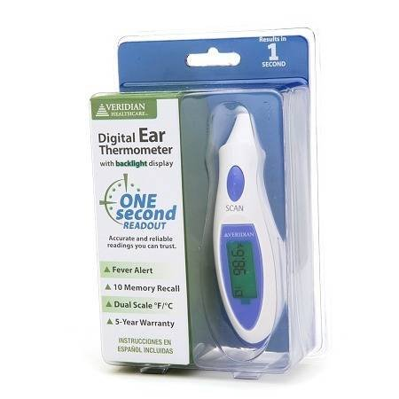 Veridian Healthcare Instant Digital Ear Thermometer - 3PC by Veridian (Image #1)