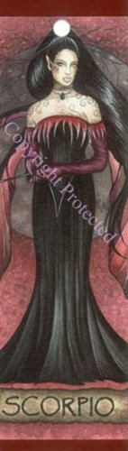Jessica Galbreth Zodiac Sign Bookmark Fairy Faery Scorpio - Jessica Galbreth Zodiac Sign