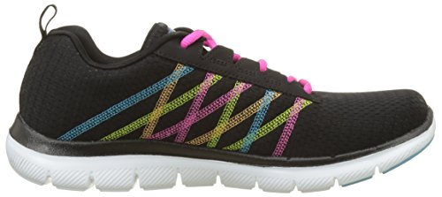 0 2 Black Nero Appeal Skechers Formatori Multi Flex Donna tqC7xp