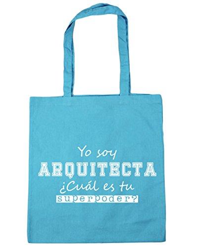 HippoWarehouse o Soy Arquitecta, ¿Cuál es tu Superpoder? Bolso de Playa Bolsa Compra Con Asas para gimnasio 42cm x 38cm 10 litros capacidad Azul Celeste