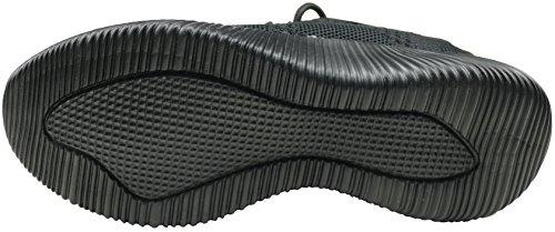 negro Mujer Tela Gibra Para de Zapatillas ZxqX4
