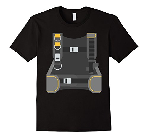 Easy Scuba Diver Costume (Mens Scuba Diver Costume T-Shirt Last Minute Halloween Tee Large Black)