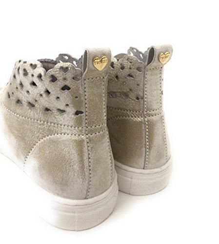 Veau Sneakers Cuir Twinset 100 Platine De 35 Aq1FfvAwO