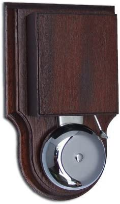 in varnished Mahogany wired London Doorbell