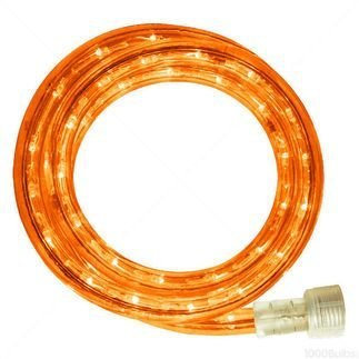 Queens of Christmas C-ROPE-LED-OR-1-10-18 Spool of LED Rope Light, 18', Orange