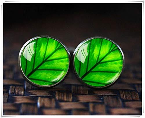 (because meet you Green Leaf Cufflinks, Leaf Cufflinks, Green Cuff Links, Nature Cufflinks, Men Cufflinks, Brass Cufflinks, Glass Dome Cufflinks, Gift for Men )