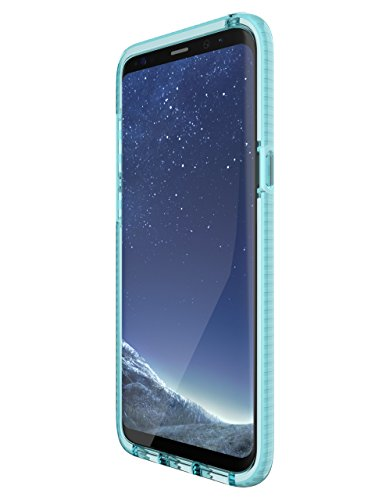 tech21 - Phone Case Compatible with Samsung Galaxy S8+ - Evo Check - Light Blue/White