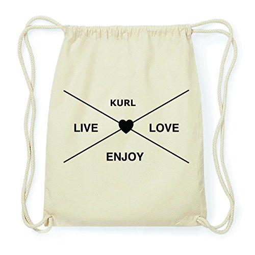 JOllify KURL Hipster Turnbeutel Tasche Rucksack aus Baumwolle - Farbe: natur Design: Hipster Kreuz ae1Yvq5D7