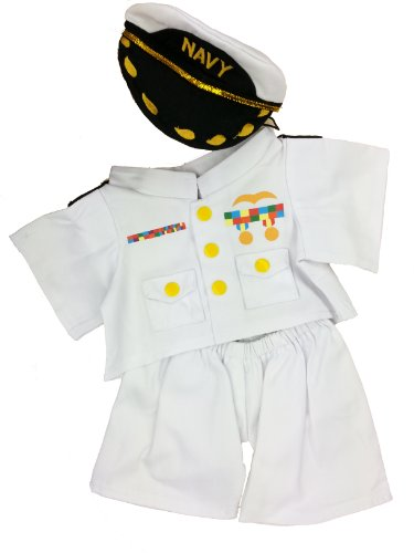 Bear Teddy Navy (In the Navy Outfit Teddy Bear Clothes Outfit Fits Most 14