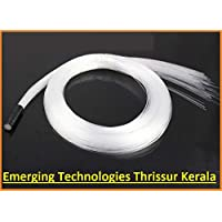 EMERGING 20pcs X 0.5mm X 2 Meter end glow PMMA optic fiber cable for star ceiling light OFC