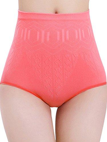 Zronji Women Seamless High Waist Body Shaper Tummy Control Panties Abdomen Underwears