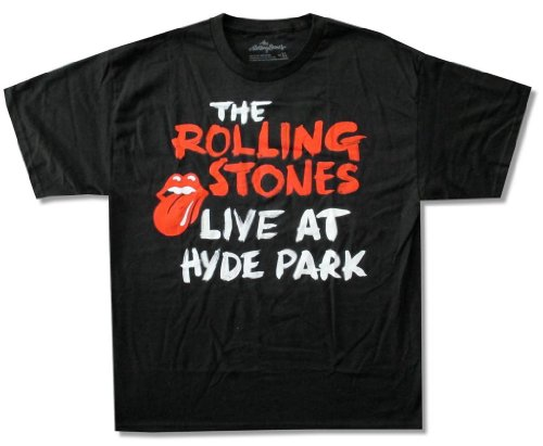 Rolling Stones 'Live At Hyde Park' Black T-Shirt (X-Large)